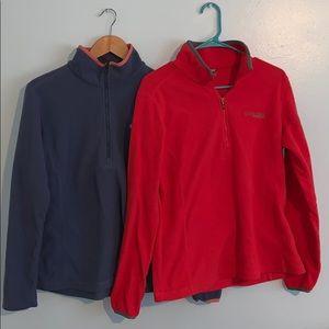 Comlumbia titanium 1/4 zip sweatshirt bundle